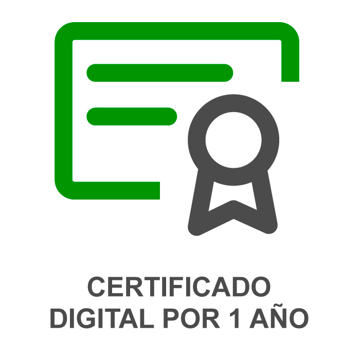 CERTIFICADO DIGITAL POR 1 AÑO